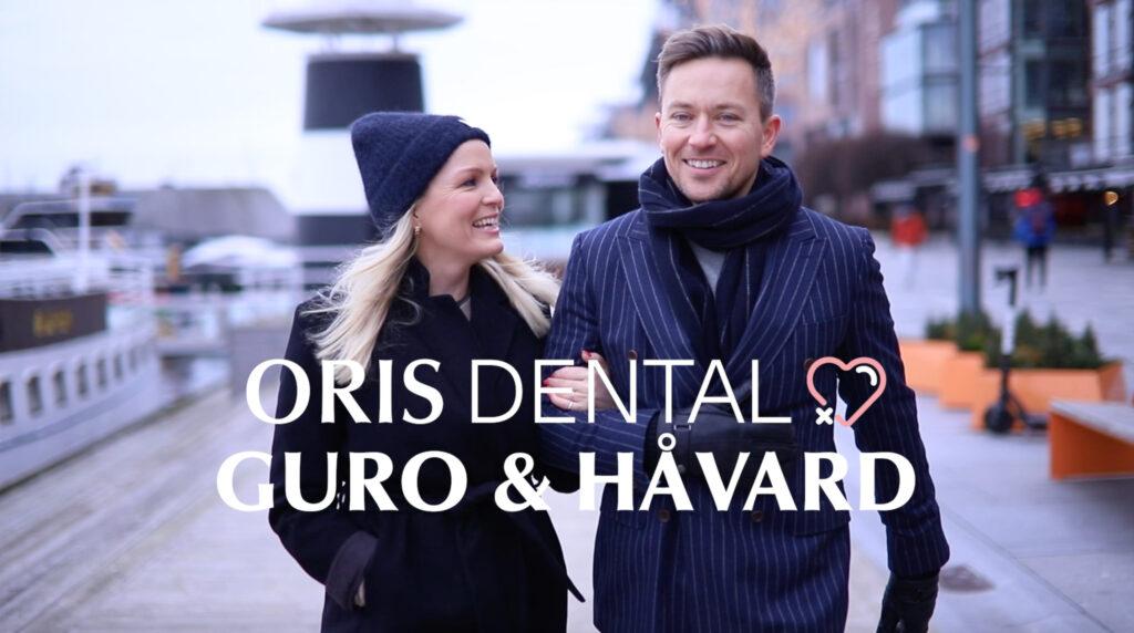 Guro Fostervold Tvedten og Håvard Tvedten utenfor Oris Dental Aker Brygge.